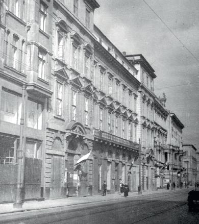 Siedziba Instytutu Wschodniego w Warszawie, Pałac Teppera, ul. Miodowa 7, Warszawa - budynek obecnie nie istnieje (fot. z archiwum J. Zielińskiego)