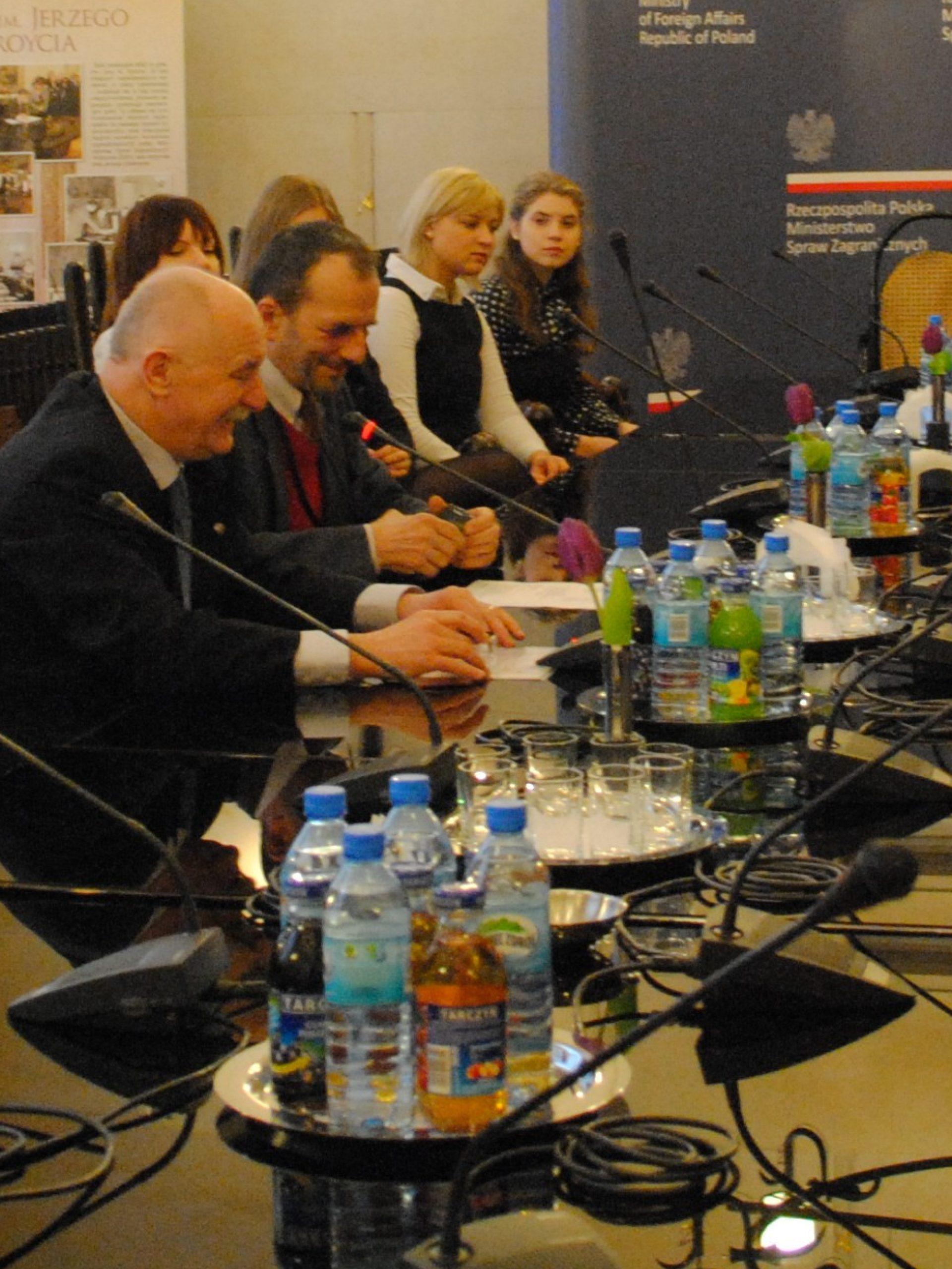 Uczestnicy Wschodniej Szkoły Zimowej z wizytą w Ministerstwie Spraw Zagranicznych, 2013 r.