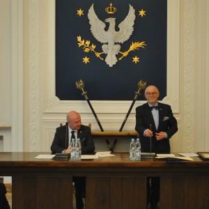 prorektor UW, Maciej Duszczyk i dyrektor Jan Malicki