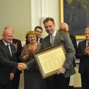 prof. otrzymał Ihor Sribniak, laureat Nagrody im. Iwana Wyhowskiego 2017