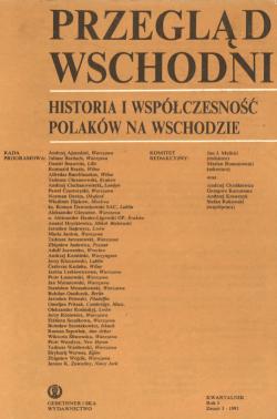 Przegląd Wschodni tom 1-zeszyt 1-1991
