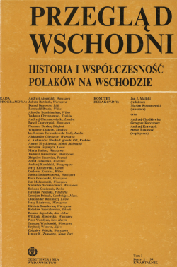 Przegląd Wschodni tom 1-zeszyt 2-1991